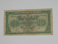 10 Francs Ou Deux Belgas - Banque Nationale De Belgique - 1943  **** EN ACHAT IMMEDIAT **** - [ 3] Duitse Bezetting Van België