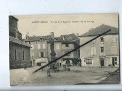 CPA  Souple - Saint Céré - Place De L'église - Statue De La Vierge - Saint-Céré