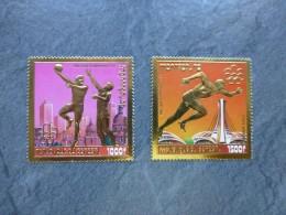 """SENEGAL Jeux Olympiques Montréal 1976, Deux Timbres """"or"""" 1000 Et 1500 F , Neuf ; Ref ALBUM 01 - Senegal (1960-...)"""