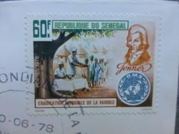 SENEGAL JENNER Eradication Variole 1978  1978  Enveloppe Premier Jour ; Ref  260 VP 33 - Sénégal (1960-...)