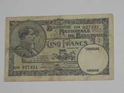 5 Francs - VYF FRANK - Banque Nationale De Belgique - 1931  **** EN ACHAT IMMEDIAT **** - [ 2] 1831-... : Regno Del Belgio