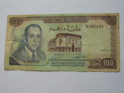 100 Dirhams 1970-1390 Maroc - Banque Du Maroc **** EN ACHAT IMMEDIAT **** - Maroc