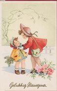 Kind Enfant Girl Fille Gelukkig Nieuwjaar Illustrator Illustrateur MAR Happy New Year - Autres