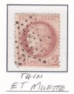 Etoile Muette Sur 51 (clair) - Marcophilie (Timbres Détachés)