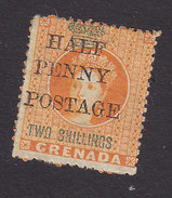 Grenada, Scott #31, Mint No Gum, Queen Victoria Surcharged, Issued 1888 - Grenada (...-1974)