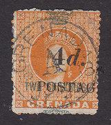 Grenada, Scott #32, Used, Queen Victoria Surcharged, Issued 1888 - Grenada (...-1974)