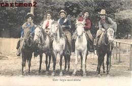FLORENCE LA DUE AMERICA'S CHAMPION LADY LASSO EXPERT COW-BOY GIRL AMERIQUE CIRQUE CIRCUS RODEO CAVALIERE - Circus