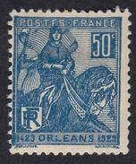 FRANCE Francia Frankreich  - 1929 - Yvert 257 Nuovo Con Traccia Di Linguella; Orlèans, 50 Cent, Blu. - France