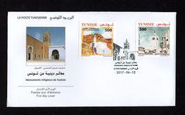 2017- Tunisia- Religious Sites Of Tunisia- FDC - Archeologia