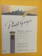 4302 -  Pinot Grigio 1995 Monte Della Cappella Hongrie - Etiquettes
