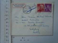 D151142 USA Cover  Sent From Cincinnati Ohio  To Austria Salzburg - Storia Postale