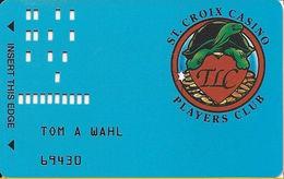 St. Croix Casino - Turtle Lake, WI USA - Slot Card - Faraday Top Left Corner On Reverse - Casino Cards