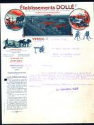 Facture Ancienne Illustrée. Dollé, Machines Agricoles, Vesoul (Haute-Saône) 1923 - Agriculture
