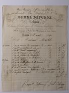 CRUEL DEFORGE ( Relieur ) - PARIS Facture à Théodore August MARTELL  (Cognacs MARTELL) Le 6 Août 1840 - France