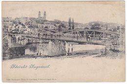 7906 Ukraine, Ungvar, Greetings Postcard Mailed 1891: Bridge, Animated - Ukraine