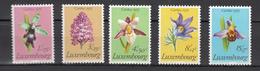 Luxembourg 1975,5V,set,flowers,bloemen,blumen,fleurs,flores,fiori,orchids,orchidee,orquidea,orchidee.MNH/Postfris(A3369) - Orchideeën