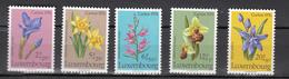 Luxembourg 1976,5V,set,flowers,bloemen,blumen,fleurs,flores,fiori,orchids,orchidee,orquidea,orchidee.MNH/Postfris(A3370) - Orchideen