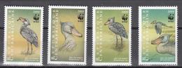 Central African Republic 1999,4V,WWF,Bec-en-sabot,birds,vogels,vögel,oiseaux,pajaros,uccelli,aves,,MNH/Postfris(A3373) - Zonder Classificatie