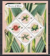 Gambia 2013,4V In Block,flowers,bloemen,blumen,fleurs,flores,fiori,MNH/Postfris(L3091) - Planten