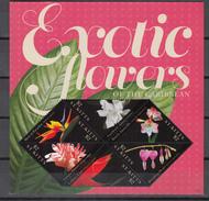 ST Kitts 2011,6V In Block,flowers,bloemen,blumen,fleurs,flores,fiori,MNH/Postfris(L3092) - Planten