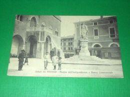 Cartolina Saluti Da Treviso - Piazza Dell' Indipendenza E Banca Commerciale 1916 - Treviso