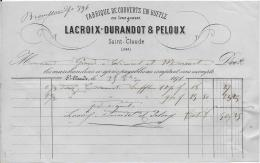 39.- SAINT-CLAUDE .- LACROIX-DURANDOT & PELOUX .- Fabrique De Couverts En Buffle - Frankreich