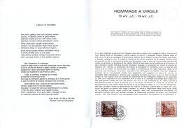 """Document Philatélique Officiel De 4 Pages De 1981 N° YT 2174 """" HOMMAGE A VIRGILE """" En Parfait état ! - Documenten Van De Post"""