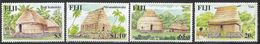 2007 Fiji Traditional Architecture Culture Houses Complete Set Of 4  MNH - Fiji (1970-...)