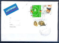 D759- Postal Used Cover. Posted From Germany To Pakistan. Foot Ball. Soocer. Flags. - Germany