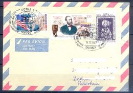 D760- Postal Used Cover. Posted From Germany To Pakistan. Flag. Telephone. Stamp On Stamp. - Germany