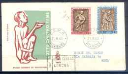 D767- Postal Used Cover. Posted From Roma. Fight Against Hunger. Greece - Greece