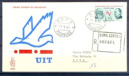 D769- Postal Used Cover. Posted From Italy Roma. UIT. International Telecommunications Union. - Italy