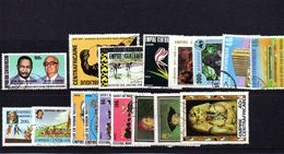 REP CENTRAFRICAINE  1970/75 PETIT LOT POSTE ET PA  OBLITERE 10% COTE AVEC NO 255A - Francobolli
