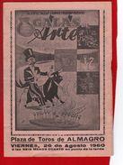 1 Programme Plaza De Toros De Almagro 1960 - Programmes