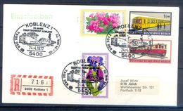D774- FDC Of Birln Germany. Flowers. Rrains. Transports. Railway. - Germany