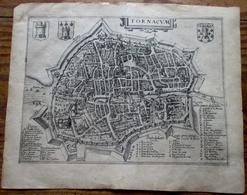 Doornik - Tournai - Tornacum - Stadsplan - Carte De Ville -  Antique City Map - Giucciardini 1613 - Cartes