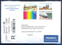 D777- Postal Used Cover. Posted From Germany To Pakistan.Plants. Tree. Railway. Transports. - Germany