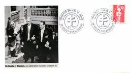 Thème Général De Gaulle - Bureau Temporaire Du 3 Novembre 1990 - Velizy Villacoublay - R 3469 - De Gaulle (General)