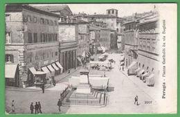 Perugia Mercato Piazza Garibaldi 1910 - Perugia