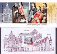 FRANCE 2014 - Bloc Souvenir Anne De Bretagne 1477-1514  - Neuf ** - Blocs Souvenir