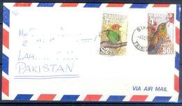 D786- Postal Used Cover. Posted From Trinidad & Tobago To Pakistan. Plants. Trees. Birds. - Trinidad & Tobago (1962-...)