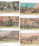 SERIE COMPLETE DE 6 CHROMOS LIEBIG PEUPLES CONQUERANTS D'ASIE - ARYENS ASSYRIENS PERSES MONGOLS ARABES - OURALO ALTAÏQUE - Liebig