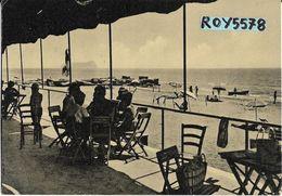 Lazio-latina- Latina Spiaggia Lido Veduta Ristoro Tavoli Spiaggia Ommbrelloni Animatissima Anni 50 - Latina