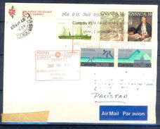 D795- Postal Used Cover. Posted From Canada To Pakistan.Sports. Ship. Mountains. Famous People. - Canada