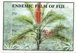 2000 Fiji  Endemic Palms Trees Miniature Sheet MNH - Fiji (1970-...)