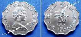 HONG KONG  2 (TWO) Dollars 1981 QUEEN ELIZABETH II - Hong Kong