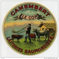 Etiquette De Fromage - CAMEMBERT - LE COR - Fromage
