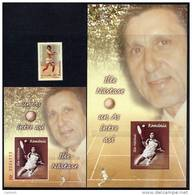ROMANIA 2004 Ilie Nastase Single + 2 Blocks.  Michel 5878, Blocks 345-46. - 1948-.... Republics