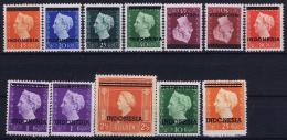 Indonesia 1948 NVPH 351 - 361 + 358A  Postfrisch/neuf Sans Charniere /MNH/**  45 + 50 Cent Hinged/* - Indonesien
