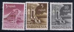 Indonesia 1949 NVPH 385 - 387  Mi 35 C - 37 C  Postfrisch/neuf Sans Charniere /MNH/**    5 Rupia Is Hinged/* - Indonesien